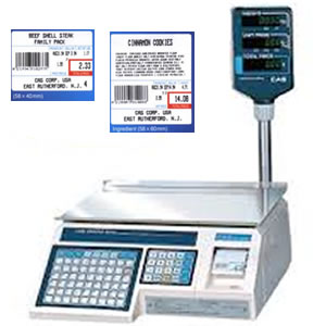 Label Printing Scale with Price and Barcode