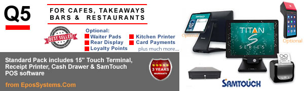 Q5 Restaurant EPoS Systems with E-Touch software