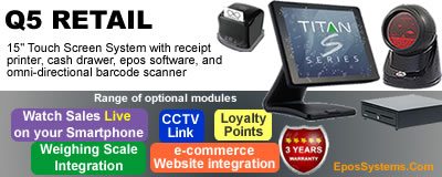 T3000 Retail EPoS Systems with Sentinel Touch POS software