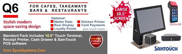 Q6 Restaurant EPoS Systems with SamTouch software