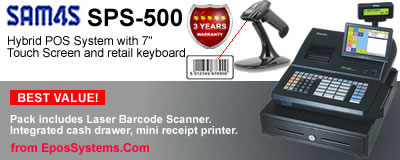 SAM4S SPS500 Retail POS System, including SPS520 and SPS530