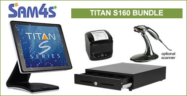 sam4s titan S160 touch screen bundle= special offer