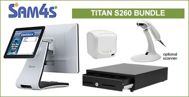 sam4s titan s260 touch screen bundle= special offer