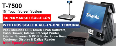 T7500 Retail EPoS System with Sentinel Touch POS software