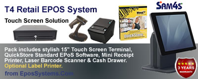 T4 Retail EPOS System ideal for diy stores, plumbers merchants, hardware stores and  builders merchants